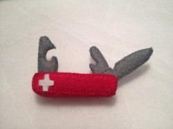 Schweizer Taschenmesser aus Filz