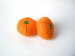 2 Filz Mandarinen