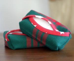 Taschentuchbox_TaTü_genäht_grün/rot_12 x 6 x 3cm - Handarbeit kaufen