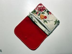 Kleines Portemonnaie ca. 11 x 9cm mit Reißverschlusstasche romantisches Rosenmotiv - Handarbeit kaufen