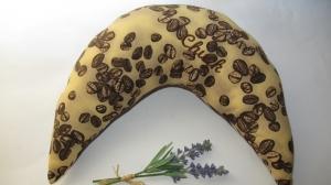 Nackenkissen Kaffeebohnen Nackenhörnchen Geschenk ( auch mit gesticktem Schriftzug erhältlich) - Handarbeit kaufen