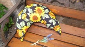 Nackenkissen Sonnenblumen Nackenhörnchen Geschenk ( auch mit gesticktem Schriftzug erhältlich)