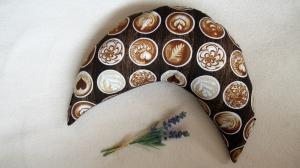 Nackenhörnchen Cappuccino Nackenkissen Reisekissen (auch mit gesticktem Schriftzug erhältlich) - Handarbeit kaufen