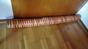 Zugluftstopper,110 cm lang,Rattan,Flechtoptik,Holz,Geschenk,Männergeschenk  - Handarbeit kaufen