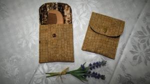 1 Etui für Bartkamm Kork Täschchen für Bartkamm Herrengeschenk Männergeschenk Hülle für Bartkamm Holzoptik - Handarbeit kaufen