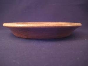 Gedrechselter Holzteller aus Eiche mit schöner Maserung - Handarbeit kaufen