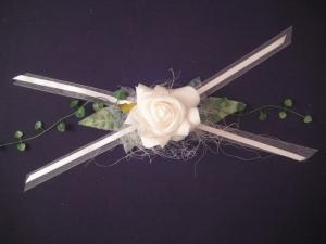 Tischdekoration zur Taufe, Kommunion, Konfirmation, Hochzeit - Aufleger Rose - festlich und dekorativ - Handarbeit kaufen