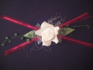 Tischdekoration zur Taufe, Kommunion, Konfirmation, Hochzeit - Aufleger Rose - festlich und dekorativ