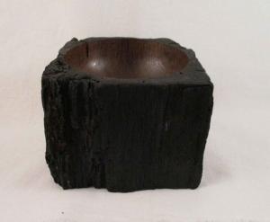 Gedrechselte Holzschale aus Eichenholz - Unikat
