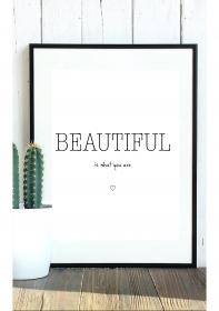 Typo-Poster / Poster mit Spruch A4 / Kunstdruck / Download