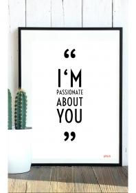 Typo-Poster / Poster mit Spruch A4 / Kunstdruck / Download / Selber Drucken