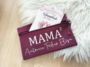 personalisiertes Etui, Mäppchen für Mamas, Geschenk zur Geburt - Handarbeit kaufen