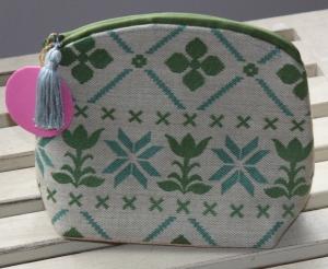 Make Up Tasche- Kosmetiktasche- Schminktasche- Unikat mit sächsischem Spruch - Handarbeit kaufen