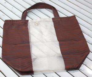 Shopper- Tasche- Stoffbeutel- Einkaufstasche- Strandtasche- Handgenäht- Upcycling