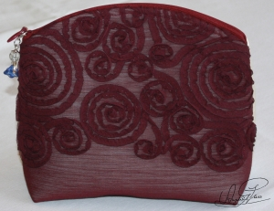 Große Kosmetiktasche- Schminktasche- Make Up Tasche- handgefertigt - Unikat- Tasche mit sächsischem Spruch,