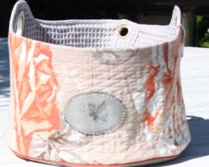 Aufbewahrungskorb- großer Stoffkorb- Aufbewahrungsaccsessoires- Utensilo- handmade- Unikat - Handarbeit kaufen