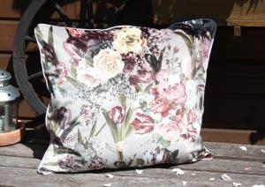 Samt-Kissenbezug- 100% Baumwollsamt- Blumenkissenhülle- Sofa- Couchkissenbezug- Größe: 48 x 55 cm - Handarbeit kaufen
