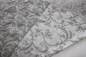 Gardine-Vorhang, Fensterdekoration, Wohnaccessoires mit Kräuselband  aus super schönem, gewebten, schweren, edlem Jacquard- Stoff