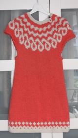 Stricktunika / Strickkleid- Handgestrickt- Island/ Norwegermuster-  Mädchen- Größe: 152-158 cm - Handarbeit kaufen