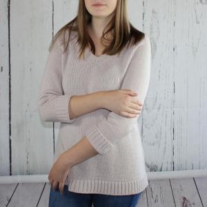 Klassischer Pullover mit Raglanärmeln aus Kaschmir-Alpaka Wolle - Handarbeit kaufen