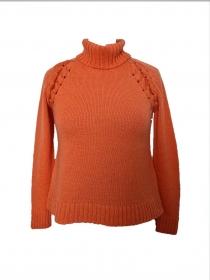 Rollkragen Pullover gestrickt aus Kaschmir Alpaka Wolle Größe 36 - Handarbeit kaufen