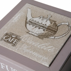 Kaffee / Tee  - Box, Holzkiste im Landhaus-Stil