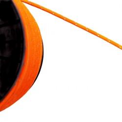 Orangene Kordel mit Reflektor Fäden Schnur Zier Band Seil Leine rund geflochten 6 mm Meterware Hoodie