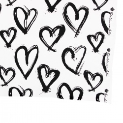 Kinder Jersey Bekleidungsstoff Herzen weiche Baumwolle Meterware