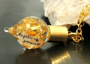 Goldkette mit Name Gravur 24 Karat Blattgold-Kette