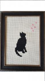 Stickerei zum Selbermachen, Stickvorlage Katze * Miss Citty sieht den Frühling * - Handarbeit kaufen