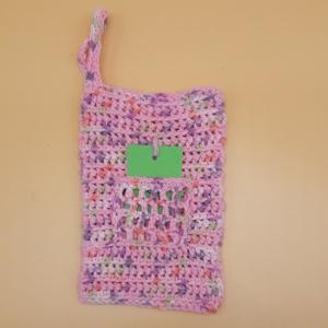gehäkelter Waschlappen mit angehäkelter Seifentasche - Handarbeit kaufen