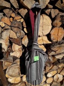 gestreifte gefütterte Knotentasche im japanischen Stil - Handarbeit kaufen