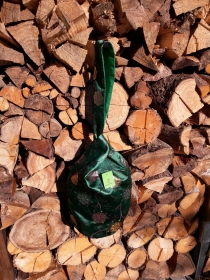 grüne Knotentasche aus japanischer Seide - Handarbeit kaufen