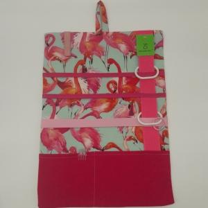 Sehr großer pinker Haarspangenorganizer mit Flamingos - Handarbeit kaufen