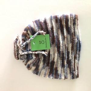 Braune gestrickte Kindermütze, Kopfumfang ca. 38cm  - Handarbeit kaufen