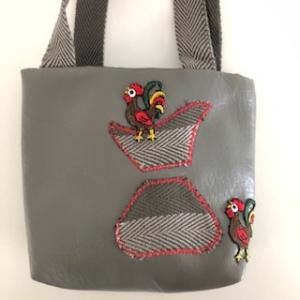 Kleine graue robuste Kinderhandtasche - Handarbeit kaufen