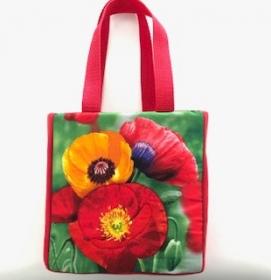 farbenfrohe Kindertasche Motiv Mohn - Handarbeit kaufen