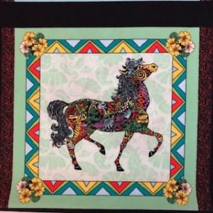 Baumwollstoff Motiv Pferd - Handarbeit kaufen