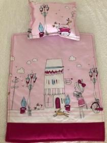 Rosa Puppenbettwäsche - Handarbeit kaufen