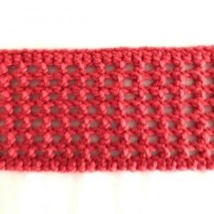 gehäkeltes rotes Haarband / Stirnband