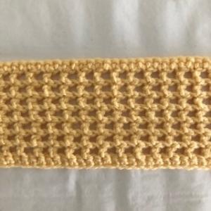 gehäkeltes gelbes Haarband / Stirnband - Handarbeit kaufen