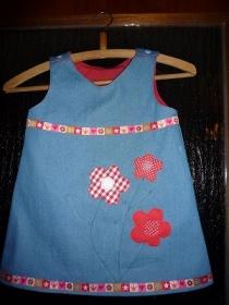 Jeanskleid mit Stickerei/ Hängerchen/Tunika