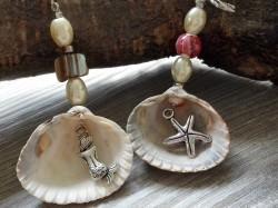 Geschenk- und Taschenanhänger aus echten Muscheln