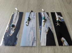 Lesezeichen laminiert aus Kalenderblättern