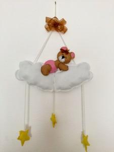 Teddy-Bär auf einer Wolke - Mobile / Wanddeko