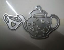Stanzschablone - Teekanne mit Tasse - Kaffekanne