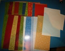Kartenrohlinge für Popup Karten mit Umschlag - 30 Teile