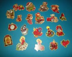 35 Stanzteile - Teddy - Weihnachten  Kartenaufleger