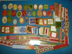 80 Stanzteile  - Weihnachten  Kartenaufleger