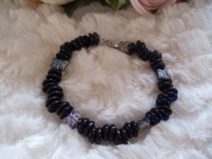 Bella schwarz mit traumhaften Czech-Perlen - Handarbeit kaufen